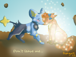 Don't leave me... by Oranguin