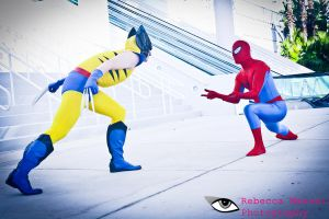 Wolverine Vs Spider Man by Rebecca-Manuel