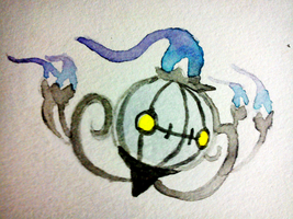 Fail Watercolours-Chandelure by ThatPuggy
