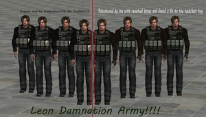 Leon Damnation Meshmod fixed/Retextured by xXLife-Starts-NowXx
