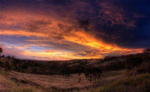 HDR Sunset Panorama by pantsonnos
