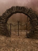 UNRESTRICTED - Autumn Gate  Background by frozenstocks
