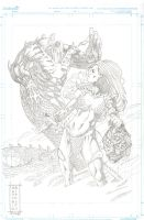 Red Sonja cover pencil by fragcomics