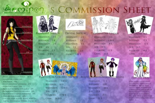 Seminon's Commission Sheet by Seminon