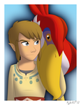 Link and the Crimson Loftwing by northstar2x