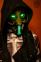 Neodragon - LED Dystopian cyberpunk mask by TwoHornsUnited