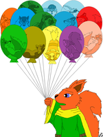 Squirrelette's Balloons by marillon954