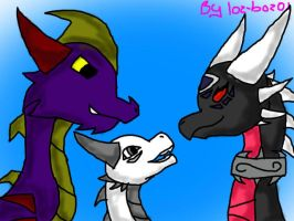 RQ - Lightning, Malefor and Cynder by loz-boz01