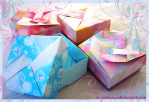 Origami Boxes by KarenKaren