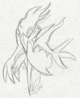 Mega Darkrai :Sketch: by Xero-J