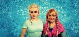 Frozen: Anna and Elsa by L-Justine