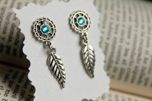 Dreamcatcher Earrings by Nabila1790