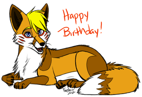 Happy Bday Foxieh! by 2wolfan