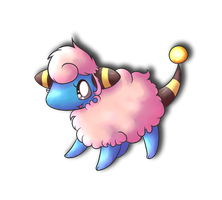 Peaches the pink Mareep