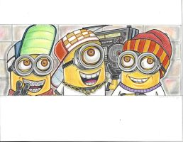 minions old school style by vinnyvandoodle