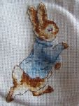 Peter Rabbit cross-stitch by MadeByJanine