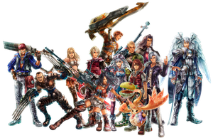 Xenoblade Chronicles Group by GIOVANNIMICARELLI