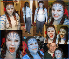 Halloween 2010 Na'vi Costume by sugarpoultry