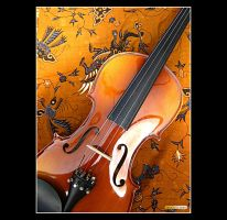 Golden Violin by macheli