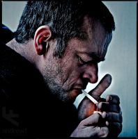 Dave Smoking by andrewfphoto