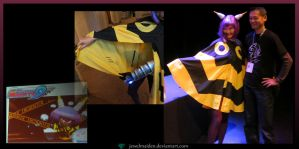 Mighty No 3 Cosplay - with Keiji Inafune by JewelMaiden