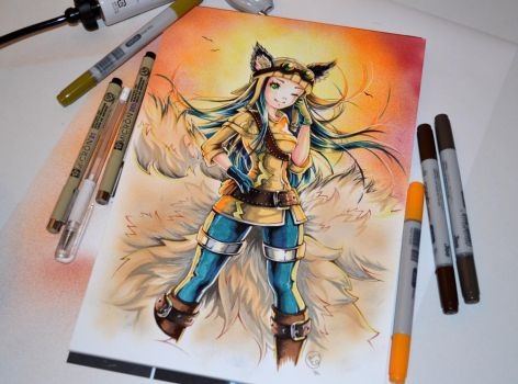 Aviator Ahri by Lighane