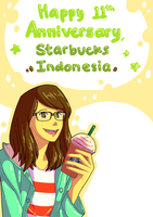 Starbucks Indonesia 11th Anniversary card by Mimint