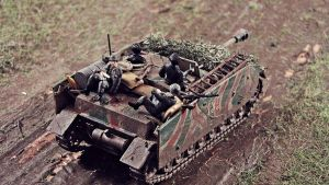 German Soldiers on a Stug 4 by DasMarc