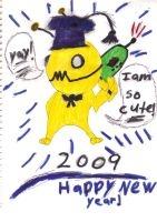 Alien Hominid   happy new year by Bluedragon85