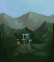 Speedpaint: Mountains by mouseymachinations