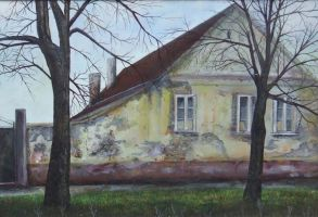 House, two trees by thesvetislav