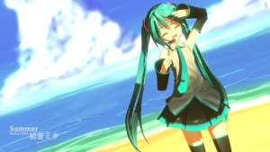 Hatsune Miku - Summer by mjq3690