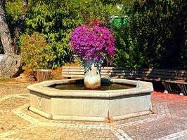 The village fountain of Eggendorf by patrickjobst