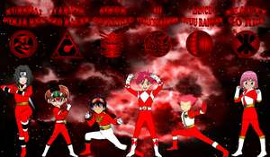 Anime Red Rangers for Davontew1 by rangeranime