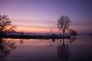 Sunset at the Maas by jochniew