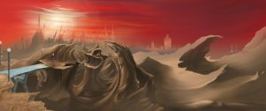 Matte Painting for Short film A Strong Foundation by Zyryphocastria