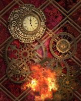 Steampunk Background 6 by Elle-Arden