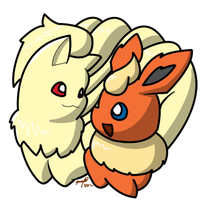 Request: Flareon and Ninetales by Ryotsu-san