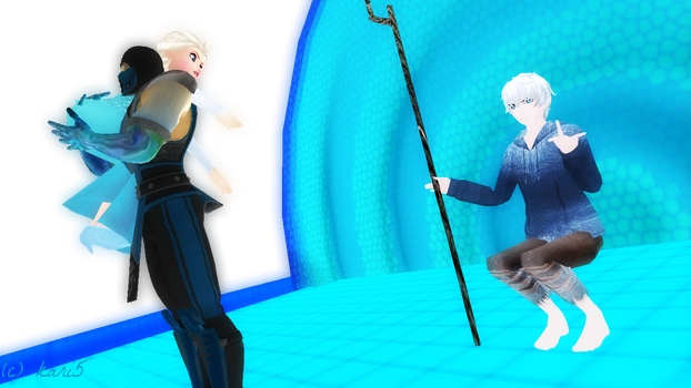 Sub Zero Kidnap Elsa And Jack Frost Middle Finger  by kari5