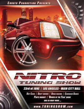 Nitro Tuning Show flyer version 3 PSD by naranch