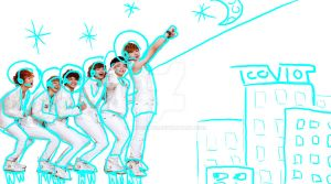 teen top as astronauts by Rio-Osake