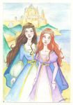 Young queens of Narnia by LaraInPink
