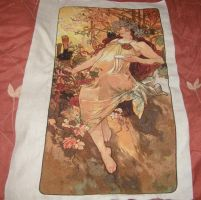 Mucha's Autumn Cross-stitch by jenni-e