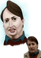 mark corrigan caricature by j0epep