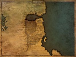 Age of Avarice: Map of Avaricia by irshadkarim