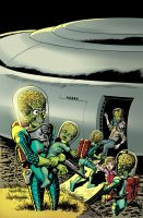 MARS ATTACKS: FIRST BORN #3 Cover Colors by LostonWallace