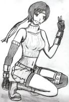 Yuffie - peace out by Sparxus