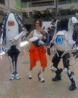 AX'11: Atlas P-Body and Chell by theEmperorofShadows