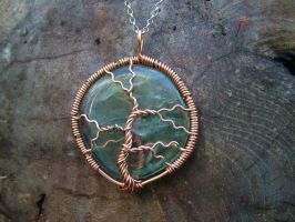 Fluorite Copper Tree by crystalpanther2