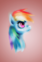 Rainbow Dash portrait by fra-92